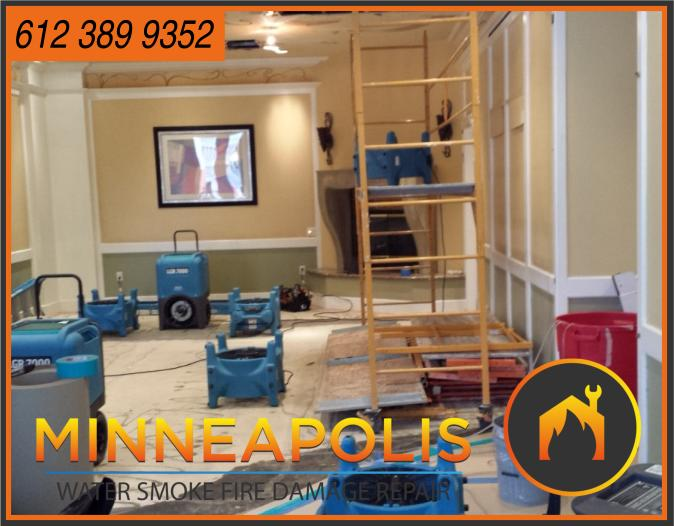 water damage minneapolis MN fire smoke removal restoration 534